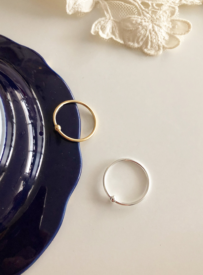 (Silver 925 & 18k Gold plating) poin ring (5 sizes)