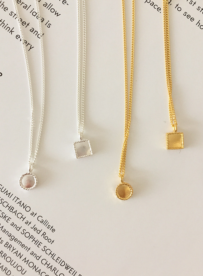 (Silver 925 & 18k Gold plating) petit necklace (2 types)