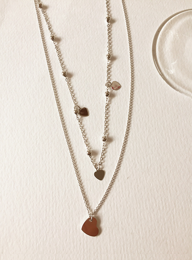 [무료배송/2차 재입고] in good heart necklace (silver)