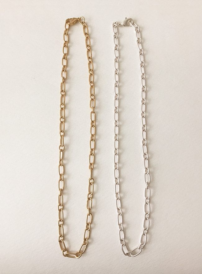 vintage chain necklace (2 colors) (Allergy free)