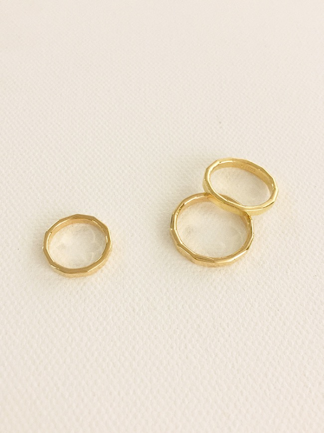 (Silver 925 & 18k Gold plating) youth ring (8 sizes)