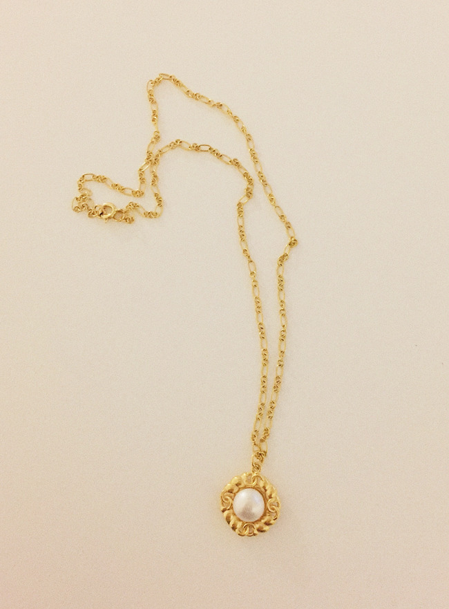 (Silver 925 +16k Gold plating) delicate flower necklace