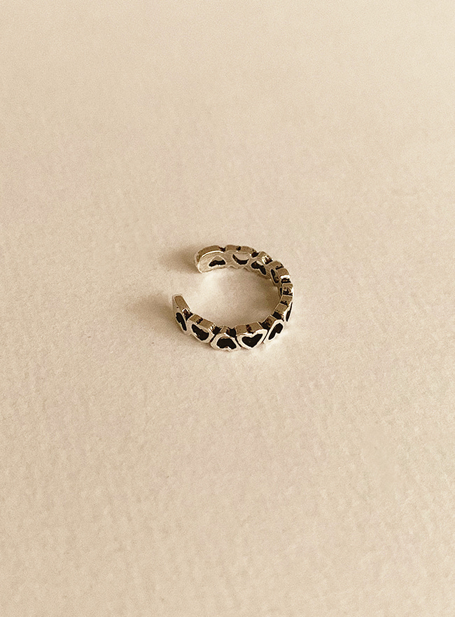 (Silver 925) full of heart ring (애끼반지)