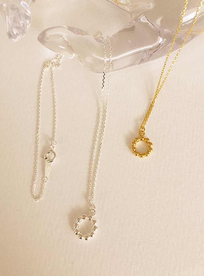 (Silver 925) mini donut necklace (2 colors)