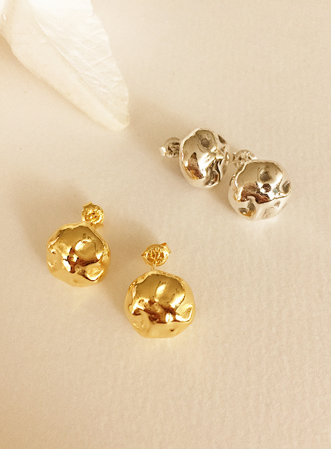 (Silver 925) motif earring (2 colors)
