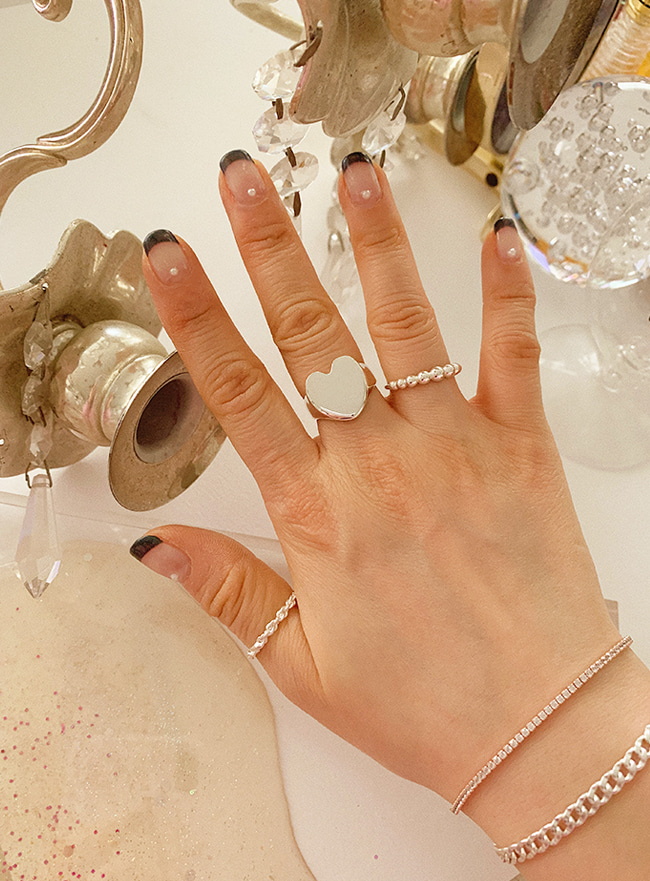 (Silver 925) real heart ring (5 sizes)