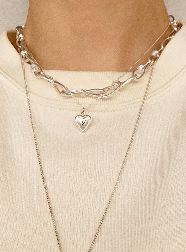 clip chain necklace (2 colors) (Allergy free)