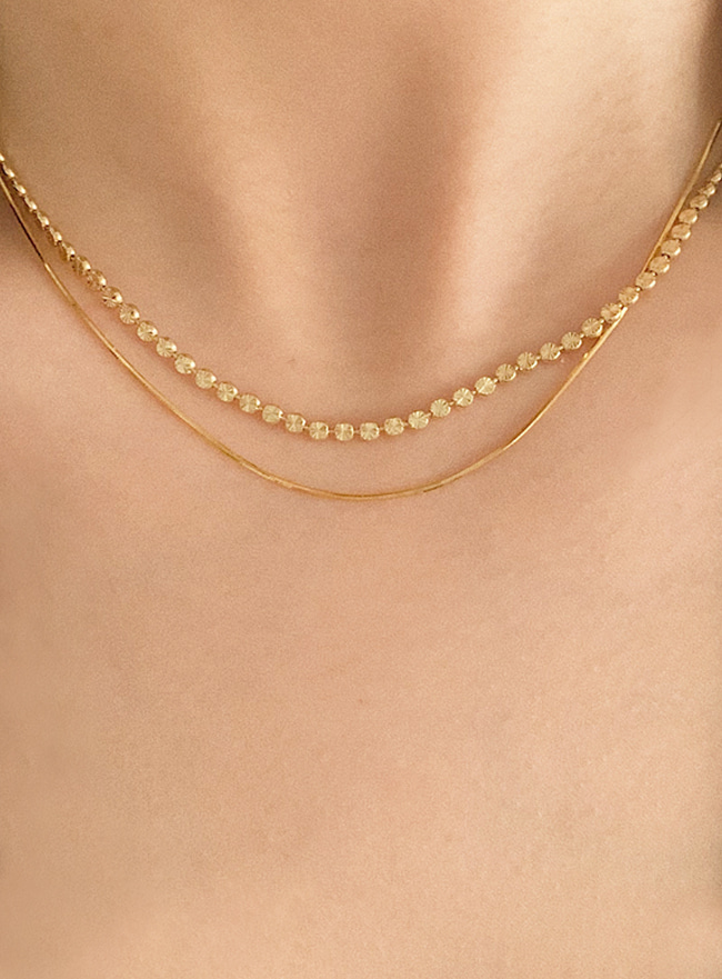 (Silver 925) glossy chain necklace