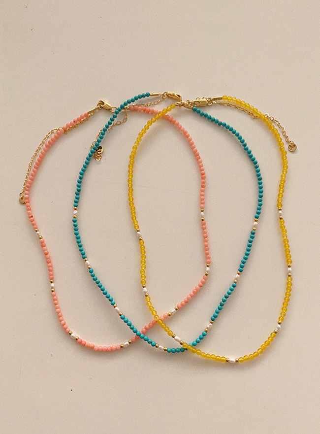 vivid beads necklace (3 colors)
