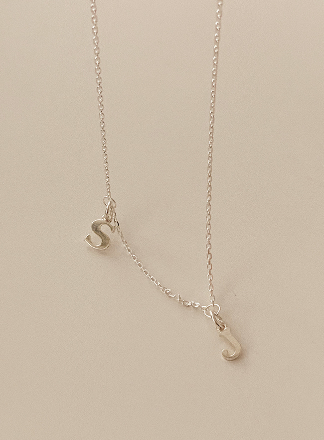 주문제작 (Silver 925) two initial necklace