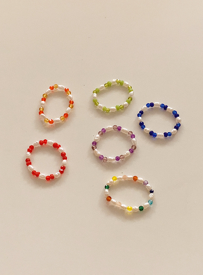 sunny beads ring (6 colors)