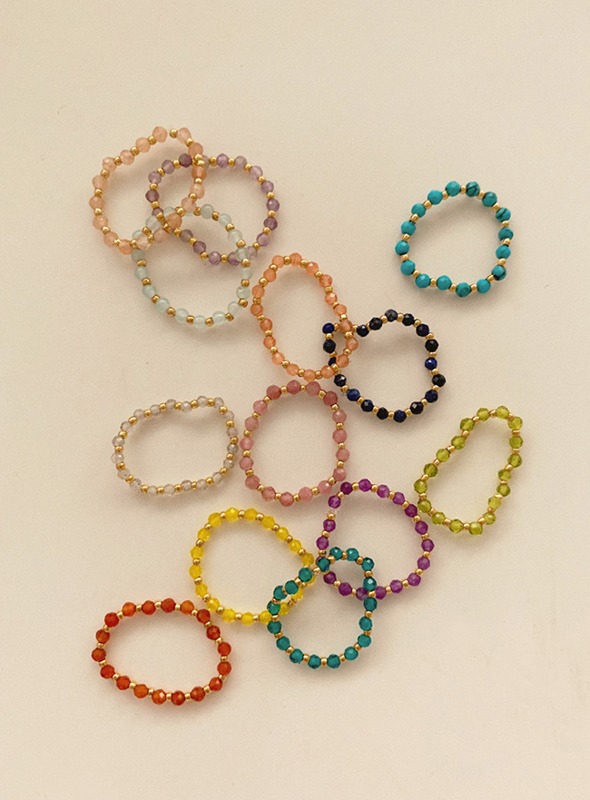 new different color beads ring (13 colors)