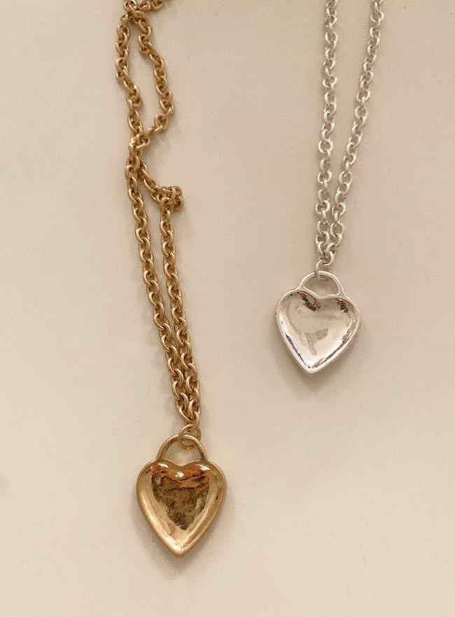 heart key necklace (2 colors) (Allergy free)