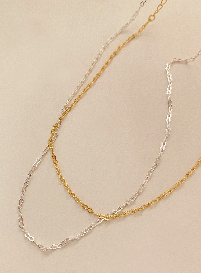 (Silver 925) peanut chain necklace (2 colors)