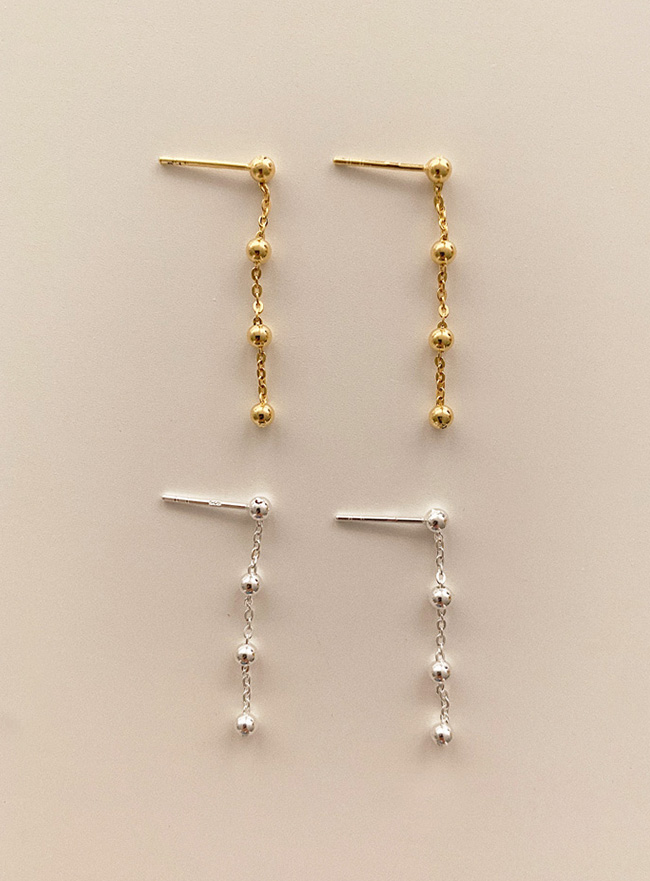 (Silver 925) dot drop earring (2 colors)