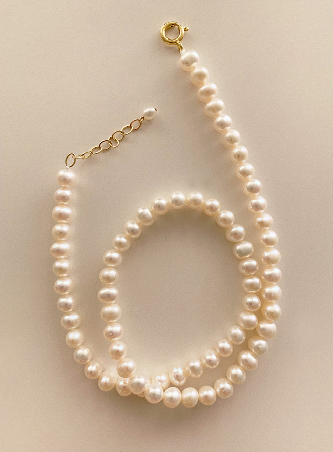 (14k gold filled) romantic pearl necklace