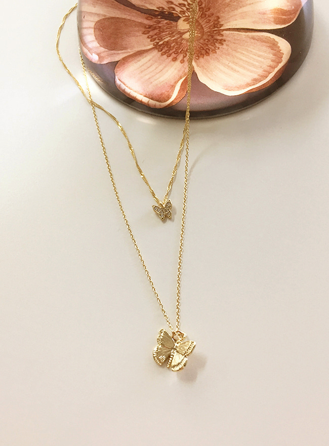 [재입고X] butterfly necklace (2 colors)
