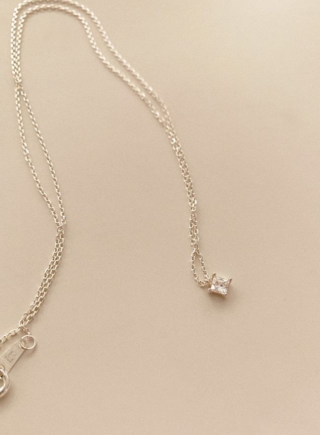 (Silver 925) cubic necklace