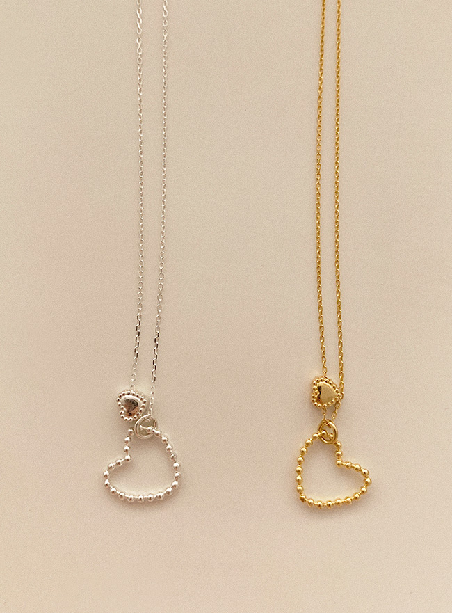 [D.SEO] (Silver 925) deep is your dear necklace