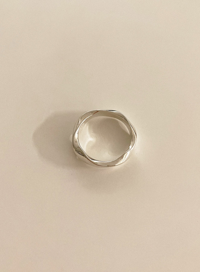 (Silver 925) thick twist ring (5 sizes)
