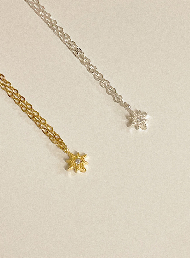 [D.SEO] (Silver 925) deep is your starry necklace