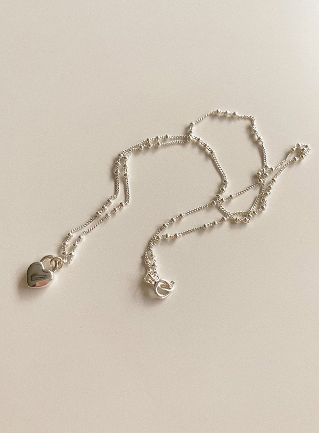 (Silver 925) love you necklace