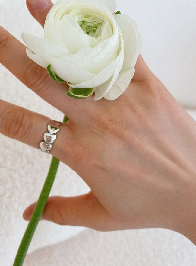 (Silver 925) love road ring (4 sizes)