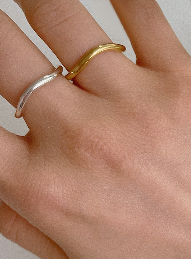(Silver 925) flow ring (2 colors) (5 sizes)