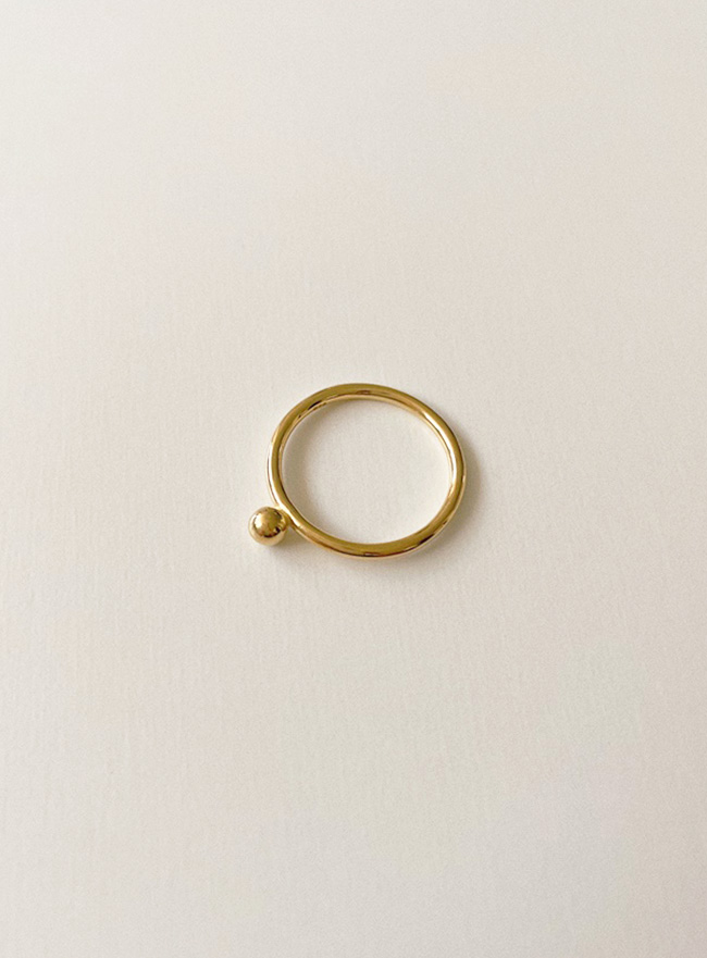 (Silver 925) one dot ring (2 colors) (7 sizes)