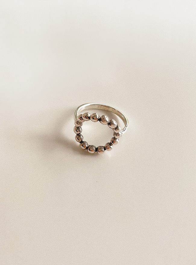 (Silver 925) dot line ring (3 sizes)