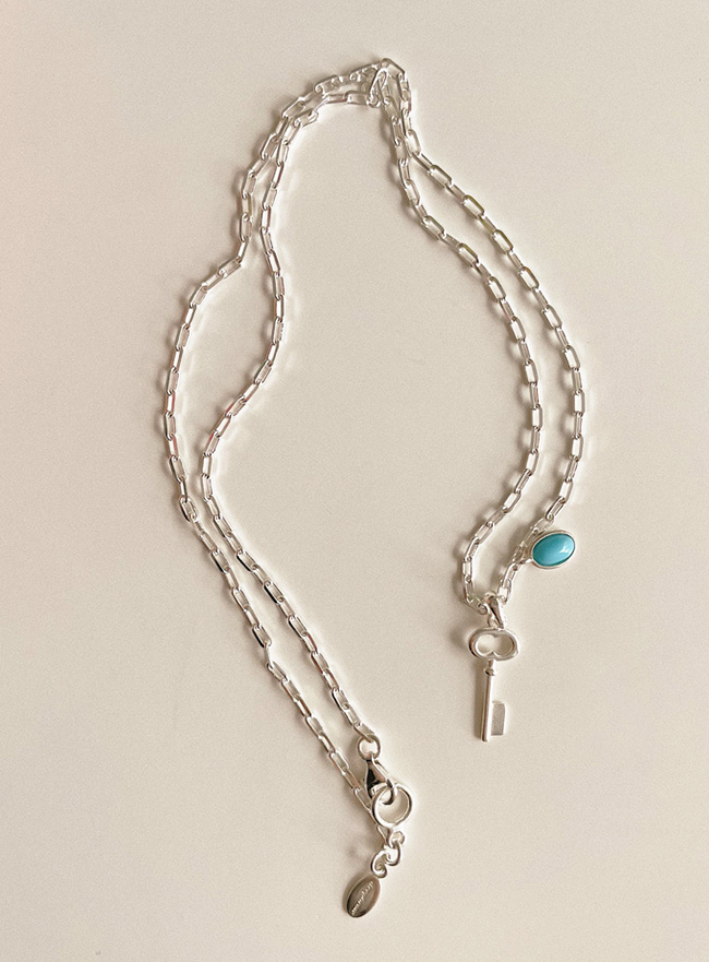 [D.SEO] (Silver 925) deep is your blue blossom necklace