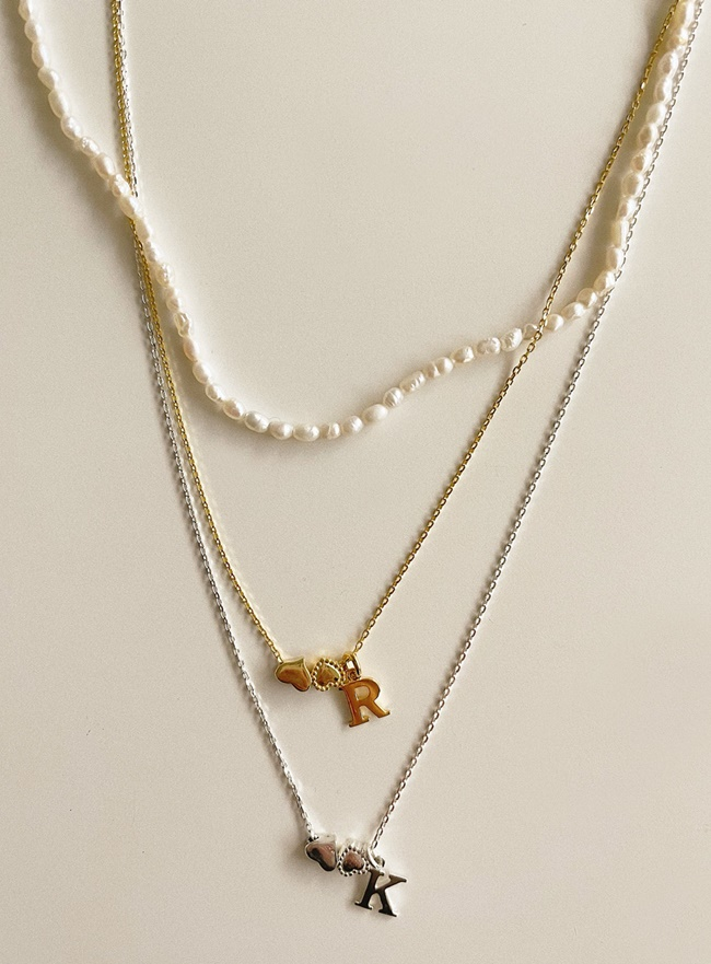 [SET] [D.SEO] (Silver 925) deep is your angel necklace (2 colors)