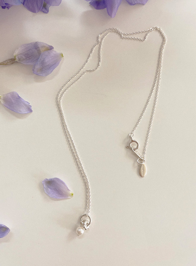 [D.SEO] (Silver 925) deep is your lilac necklace