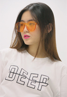 DEEP logo t-shirt / white