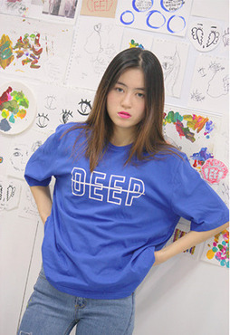 DEEP logo t-shirt / blue