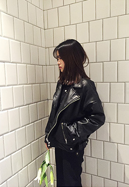 [4차 리오더] chic leather jacket
