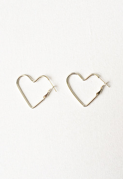 [무료배송] (Silver 925) one-touch heart earring