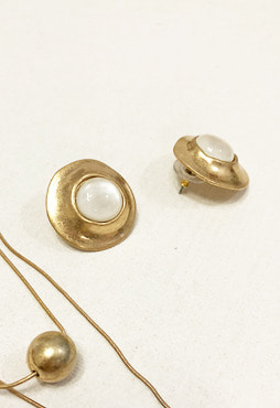 antique nacre earring (자개, 2 colors) (Allergy free)