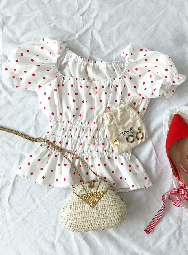 dot red top (deep summer top !)