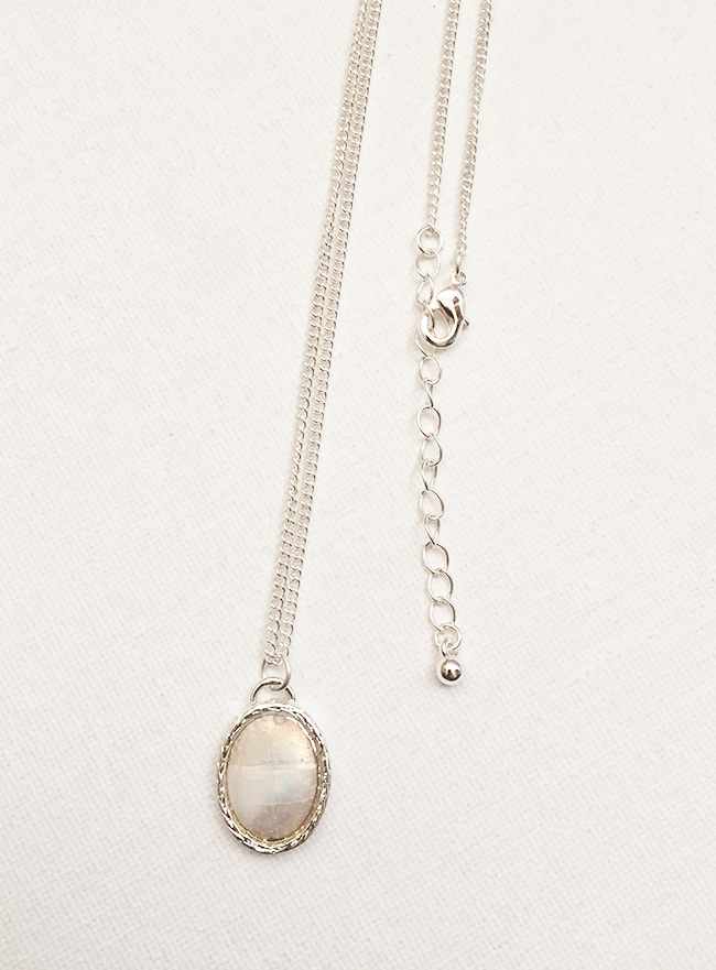 nacre necklace (자개, 2 colors) (Allergy free)