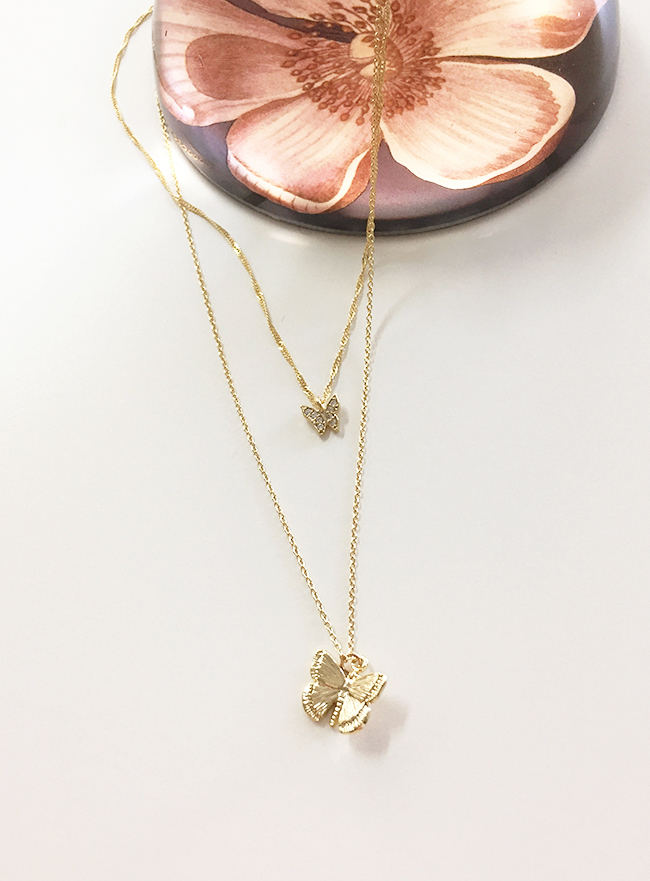 [2차 재입고] butterfly necklace (2 colors)