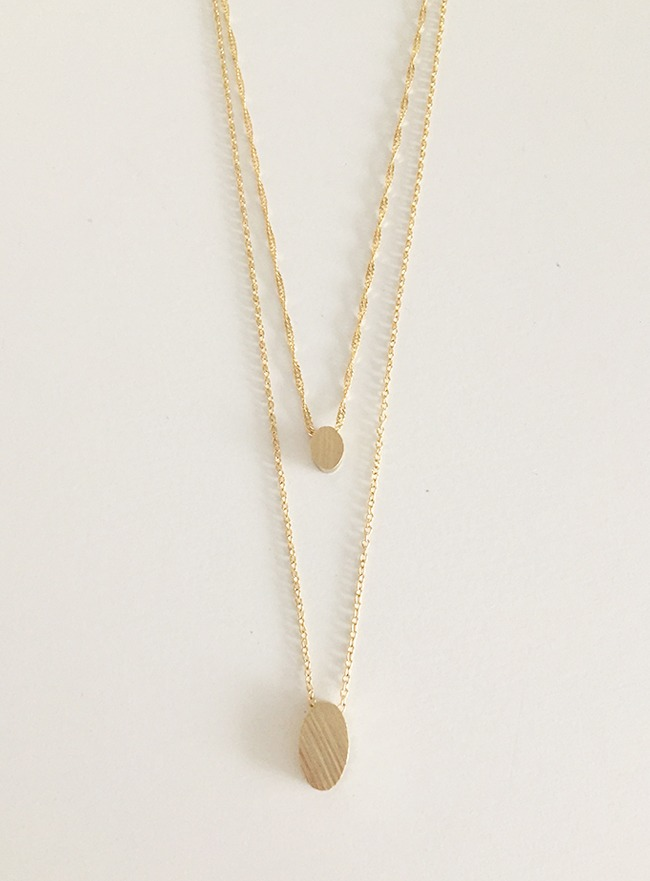 [무료배송] modern necklace (2 colors)