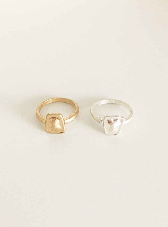 trapezium ring (13호) (2 colors) (Allergy free)