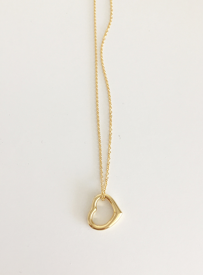 (Silver 925 & 14k Gold plating) rolling in the deep necklace