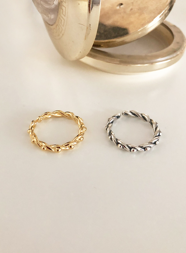 (Silver 925 & 16k Gold plating) winding ring (14호)