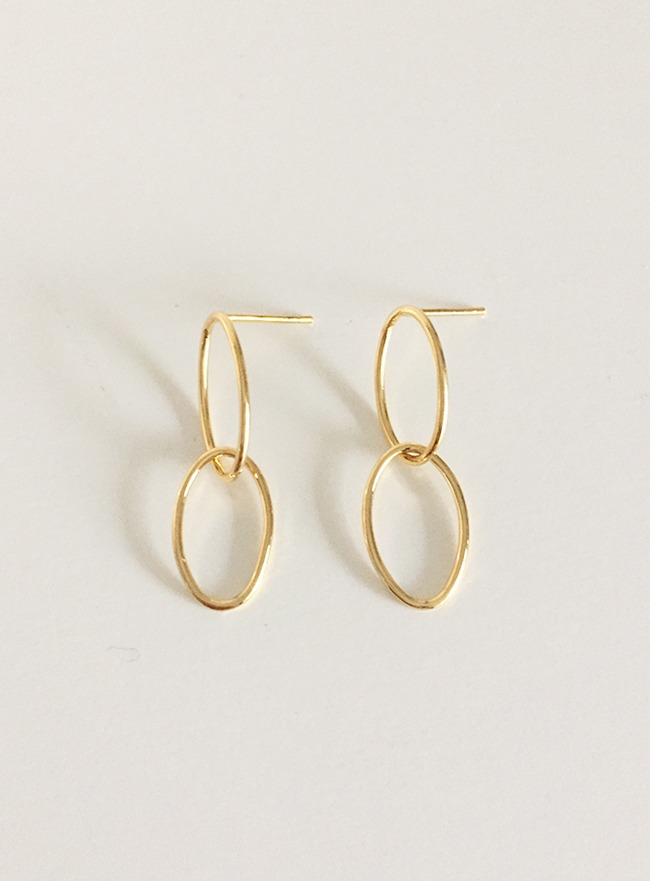 (Silver 925 & 16k Gold plating) light earring