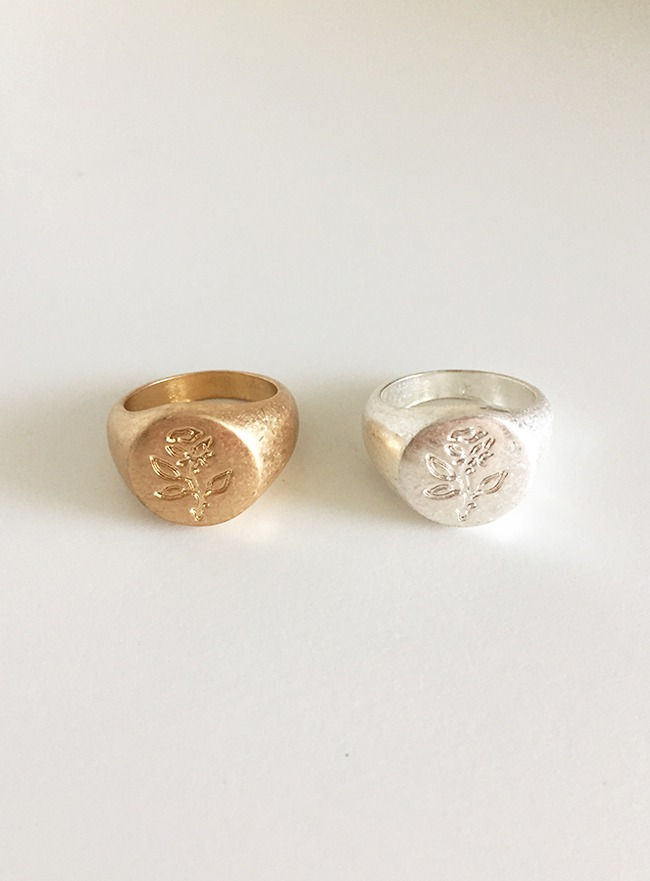 [2차 재입고] rose ring (11호, 2 colors) (Allergy free)