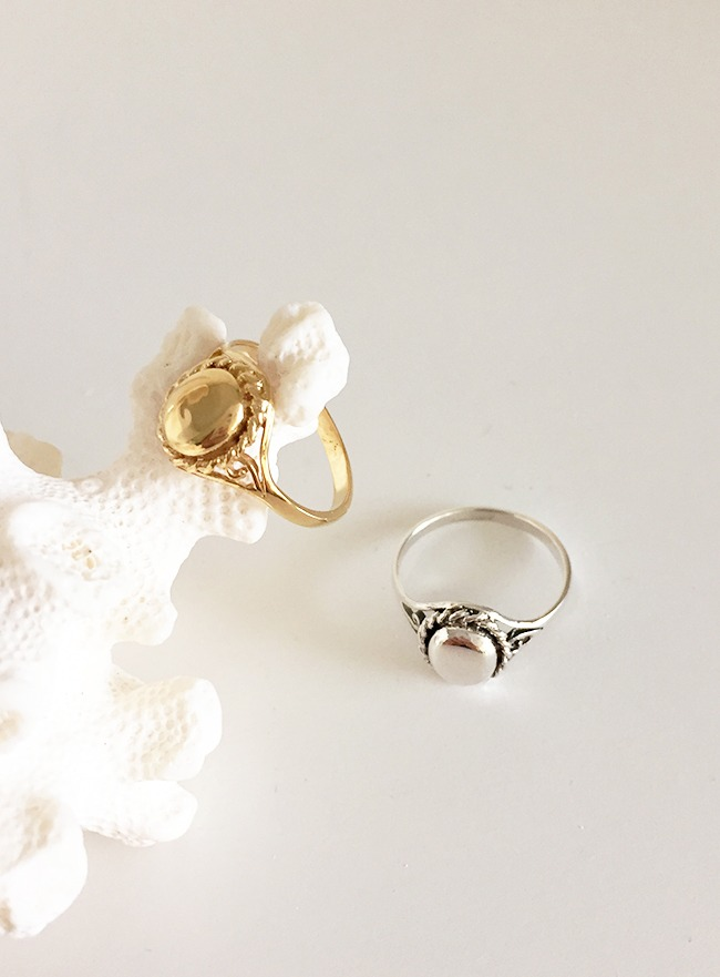 (Silver 925 & 18k Gold plating) classy ring