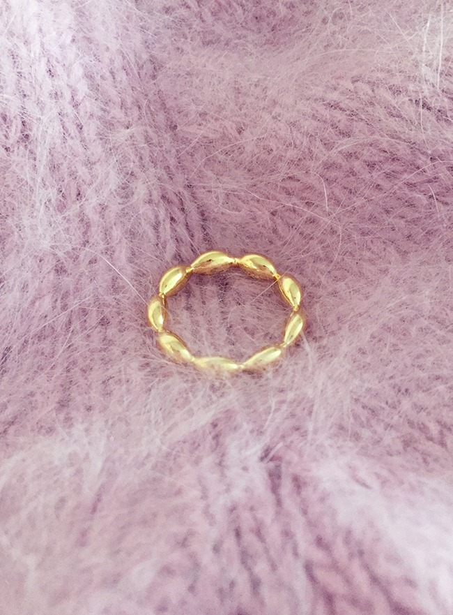 (Silver 925 & 16k Gold plating) regulier ring (13호)