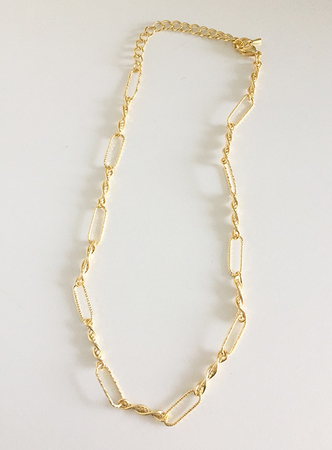 twist chain necklace (2 colors) (Allergy free)